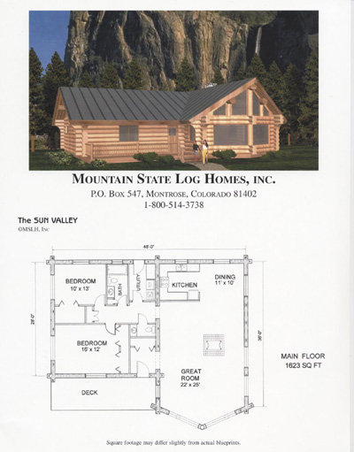 1500 2000 sq ft mountain state log homes House plans less than 1500 square feet