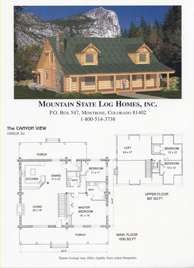 1500 2000 sq ft mountain state log homes for 2000 sq ft log home plans