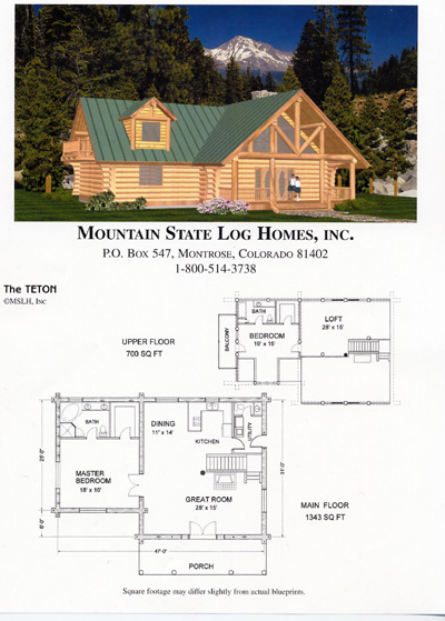 2000 2500 sq ft mountain state log homes for 2500 sq ft log home plans