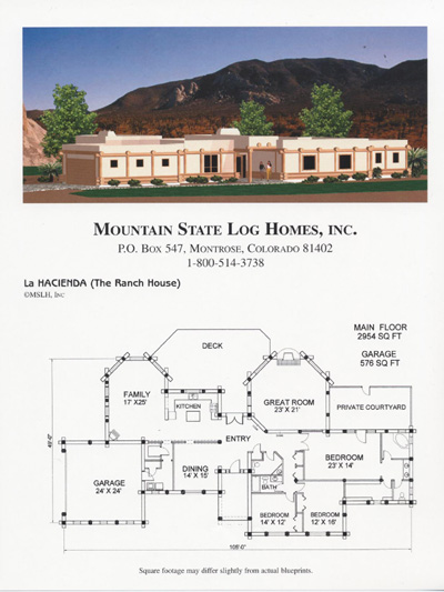 3500 4500 sq ft mountain state log homes for 4500 sq ft house plans
