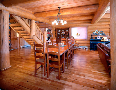 Dining Rooms - Mountain State Log Homes