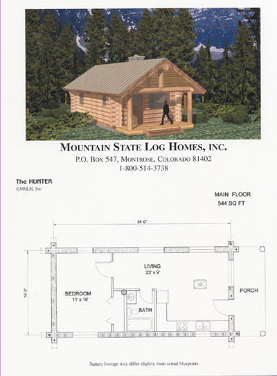 Less than 1500 sq ft mountain state log homes for 2000 sq ft log home plans