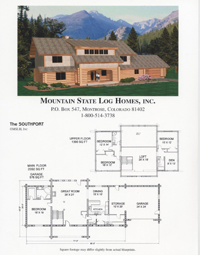 Mountain state log homes for 2500 sq ft log home plans